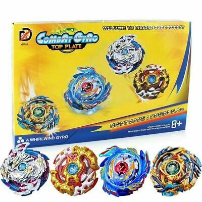 4x Beyblade Burst Arena Metal Set Gyro Fighting Gyroscope Launcher Spinning Toys 3