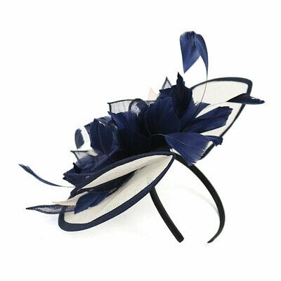 Feather Flower Hair Clip Women Vintage Fascinator Wedding Vintage Headpiece 11