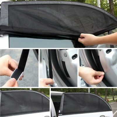 2x Car Sun Shade Mesh Rear Side Window Screen Cover UV Blind Kids Child Baby UK 5