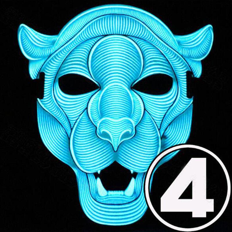 Sound Reaktive LED Glühend Horror Festival Party Halloween Maske Cosplay Kostüme