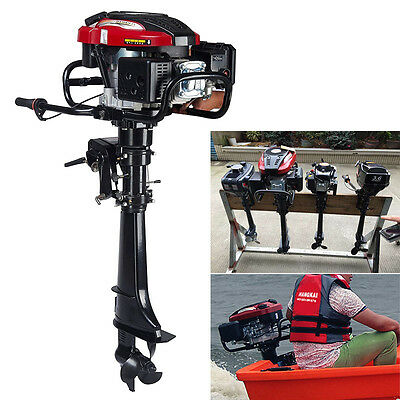 7 HP 4-Stroke Outboard Motor Transom Mount Boat Engine Air Cooling 196CC 2
