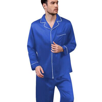 Mens Silk Satin  Pajamas - PJ Set  Top and Bottom 2