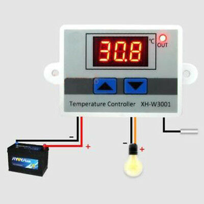 12/220V Digitale Led Regolatore di Temperatura 10A Termostato Interruttore + 3