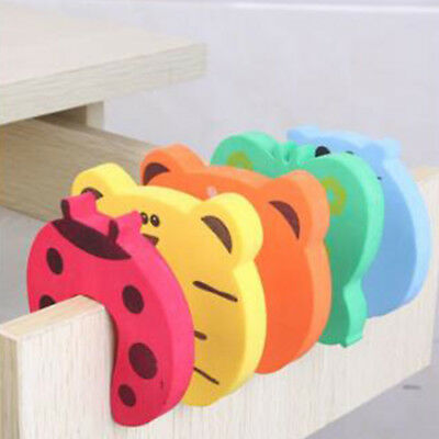 5/10pcs Baby Safety Cartoon Gate Card Security Door Stopper Protector Clip Clamp 6