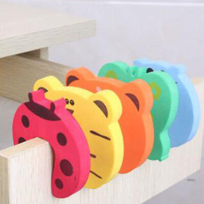 5/10pcs Children Baby Safety Cartoon Door Stopper Clip Clamp Pinch Hand Security 6