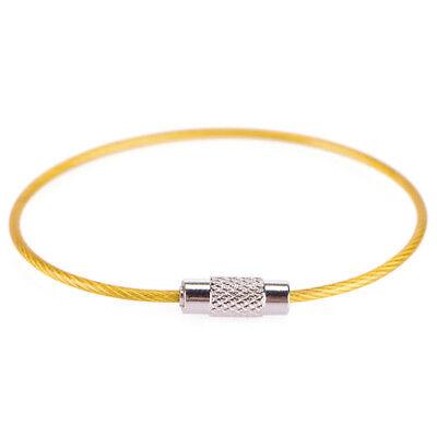 Catene dell'anello chiave 5x acciaio inox filo portachiavi cavo escursione`ester 11