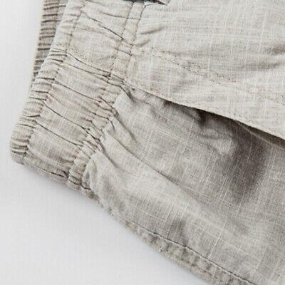 Hommes Coton Short Demi Costume Pantalon Décontracté Pantalon Slim Beachwear Surdimensionné solide