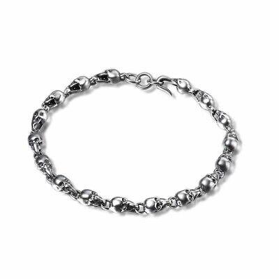 925 Sterling Silver Skull Bracelet Hallmarked 4
