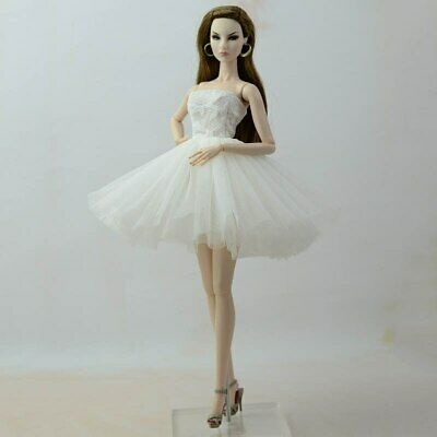 """Fashion Doll Clothes Short Ballet Dress For 11.5"""" Doll Outfits Evening Dress 1/6 4"""
