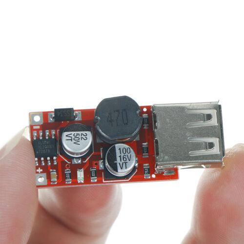 9V 12V 24V a 5V 3A CAR Cargador USB Módulo DC reductor convertidor KY 3