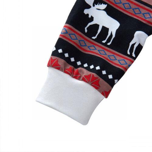 2Pcs Kids Boys Girls Christmas Pajamas Sleepwear Nightwear Xmas PJ's Outfits Set 12