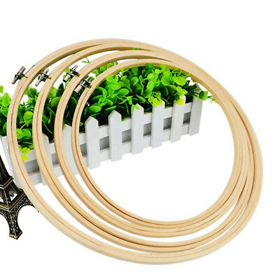 1Pcs Wooden Cross Stitch Machine Embroidery Hoop Ring Bamboo Sewing 13-30cm 6