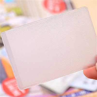 10X PVC Credit Card Holder Protect ID Card Business Card Cover Clear FrosteUULK 8