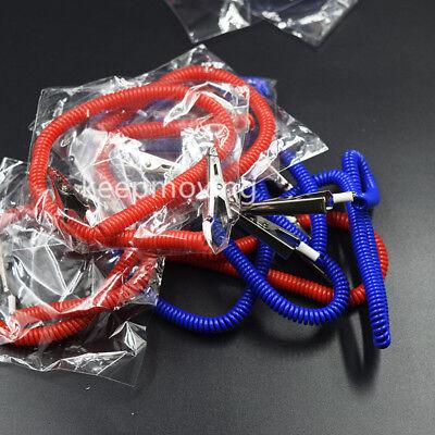 20 Pcs Dental Patient Bib Clips Chains Napkin Holder Flexible Coil Plastic 9
