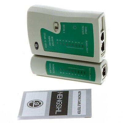 network cable rj45 rj11 rj12 cat5 lan cable tester networking