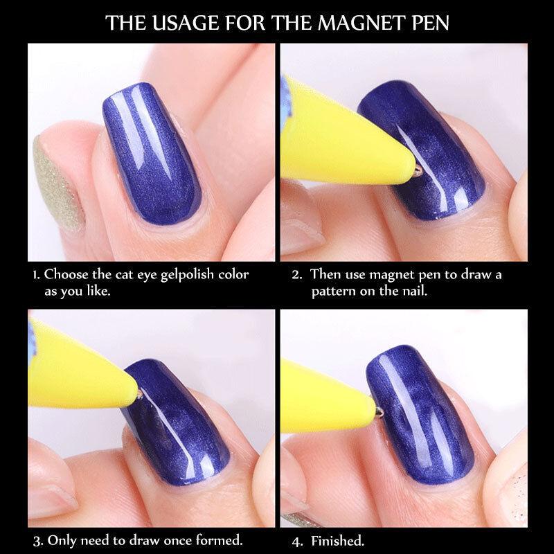 PRO MAGNET PEN Magnetic Stick for Cat Eye Gel Polish UV Nail Art ...
