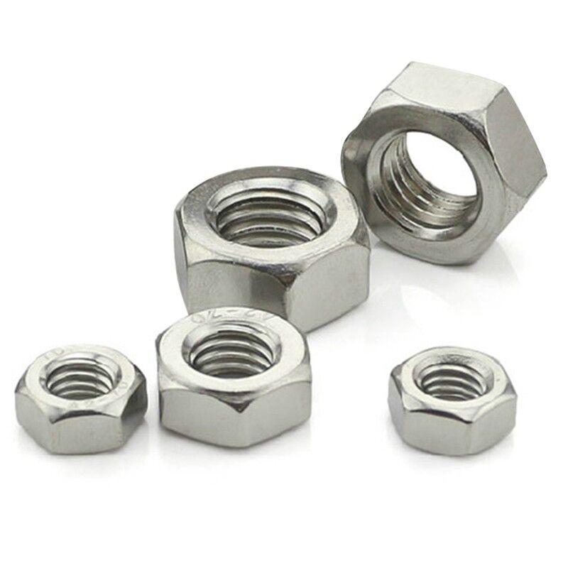 100pcs M3 M4 M5 M6 Hex Screw Nut Steel Hexagon Galvanized Nuts NEW DIY Craft 2