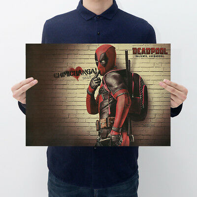 Avengers Deadpool Retro Kraft Paper Poster Cafe Bar Room Decor Painting Picture 2