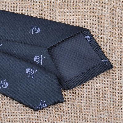 Schädel Krawatte Schwarz Schlips Herren Party Krawatte Skull Necktie Tie