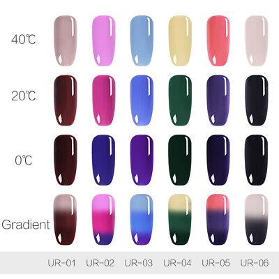 UR SUGAR Vernis UV Gel Thermique Nail Art UV Gel Polish Soak off Color Changing 7