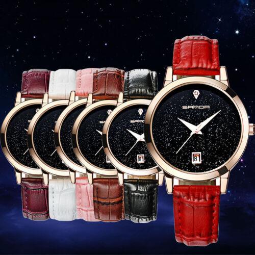 Fashion Women's Watches Leather Stainless Steel Quartz Analog Wrist Watch 2