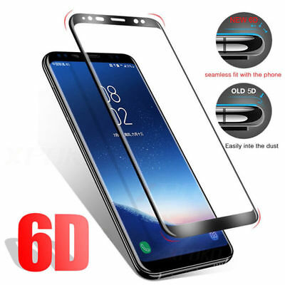 6D Samsung Galaxy S9+ S8 Plus Note 8/9 Tempered Glass Full Glue Screen Protector 4