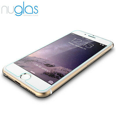 2x Nuglas Tempered Glass Screen Protector For iPhone XS Max X 8 7 6 6S Plus 4