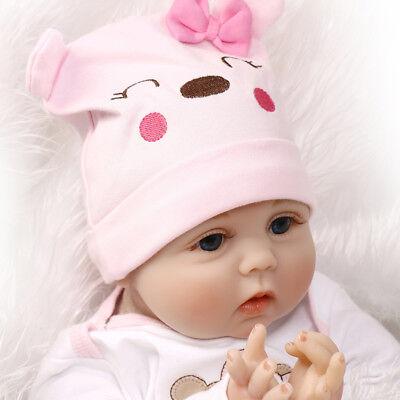 22'' Lifelike Newborn Babies Silicone Vinyl Reborn Baby Dolls Handmade Full Body 7