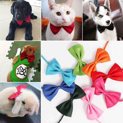 2PCS Dog Puppy Cat Necktie Bow Tie Small Dog Pet Clothes Decor Bowknot 3