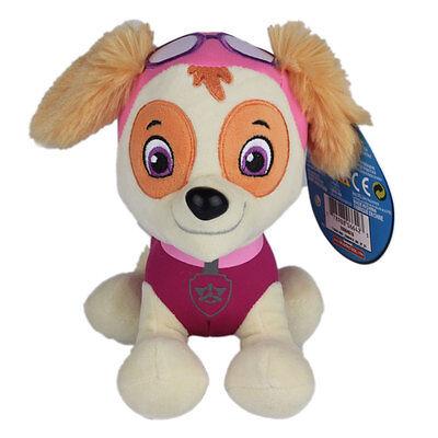 """Plush Pup Pals 8"""" Paw Patrol Skye/zuma Rocky Soft Toys Nickelodeon Dog Set Gift 4"""