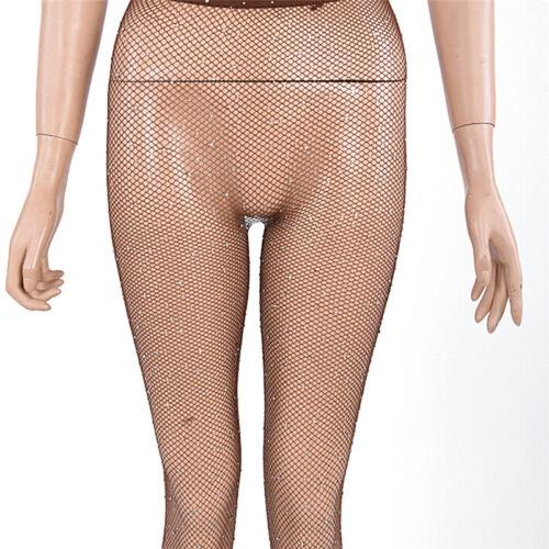 Women Crystal Rhinestone Fishnet Net Mesh Socks Stockings Tights Pantyhose S3 10