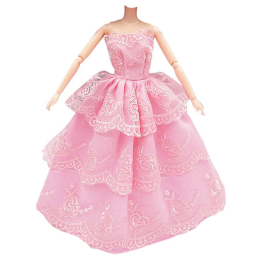 3Pcs Fashion Handmade Dolls Clothes Wedding Grow Party Dresses For Dolls 7
