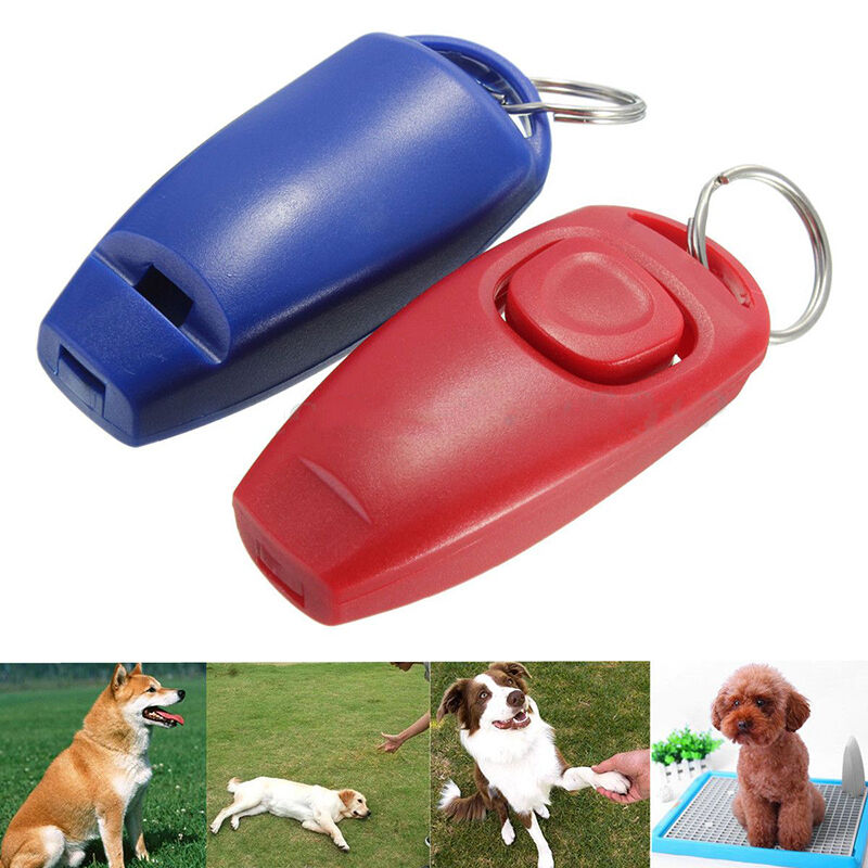 Dog Clicker & Whistle- Training,Obedience,Pet Trainer Click Puppy With Guide Hot 6
