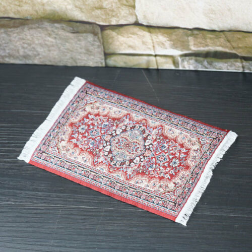 Design Dolls House Small Turkish Woven Fireside Rug Carpet Miniature 1:12 Access