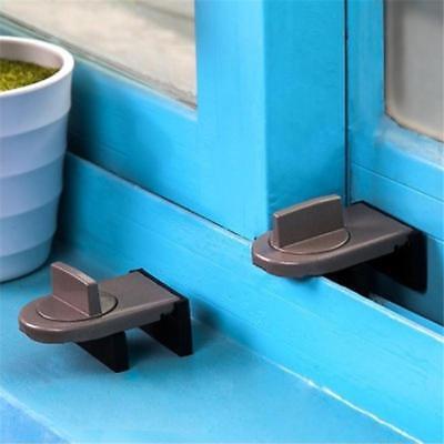 Security Sliding Door Window Lock Safety Lock Sliding Sash Stopper For Kids Baby 4