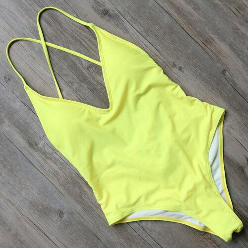 New One Piece Swimsuit Push up Monokini Swimwear Womens Push Up Bikini Beachwear