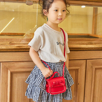 Child Girl Princess Bow Leather Handbag Crossbody Messenger Shoulder Bag Purse 2