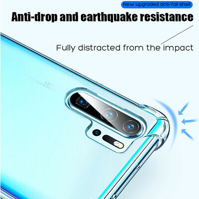 For Huawei P30 Pro Mate 20 Transparent Airbag Shockproof Silicone Case Cover 3