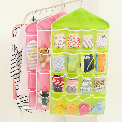 16 Pockets Door Wardrobe Hanging Organizer Bag Shoe Rack Hanger Closet Storage L 7