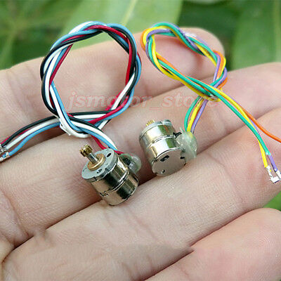 10PCS 2-Phase 4-Wire Mini 8mm Stepper Motor Stepping Motor Metal Copper Gear DIY 9