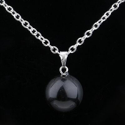 Round Ball Pendant Necklace Gemstone Rock Crystal Quartz Chakra Natural Stone 8