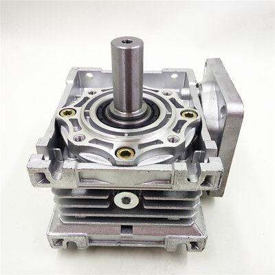 Worm Gear Reducer RV040 NEMA24/34 Speed Gearbox 10 15 20 25 30 40 50 60 80 100:1 9