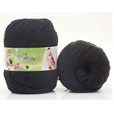 Lot Chunky Yarn Knitting wool Silk Protein cashmere Crochet baby soft cotton 50g 10