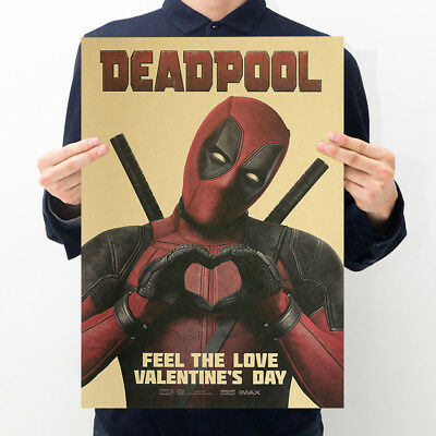 Avengers Deadpool Retro Kraft Paper Poster Cafe Bar Room Decor Painting Picture 5