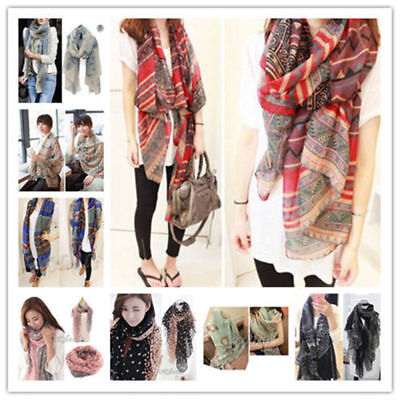 Fashion Ladies Women's Long Soft Wrap Shawl Scarf Pashmina Stole Scarves 2