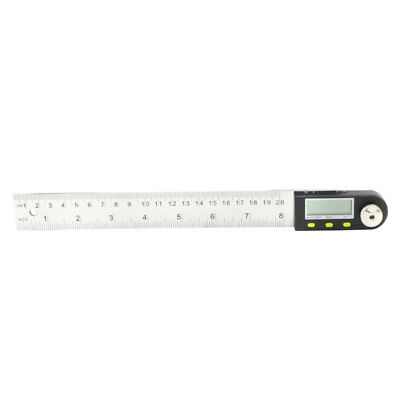 200 mm 8 inch Electronic Digital Protractor Goniometer Angle Finder Steel Ruler 4