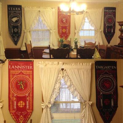 """Game of Thrones House Stark Targaryen Banner Flag Wall Hanging Home Decor 19""""*59 4"""