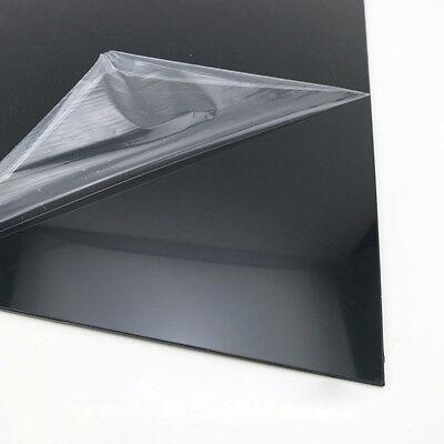 Black ABS Plastic Sheet Board DIY Model Craft 200x250mm 1/1.5/2/3/4/5mm Thick 2