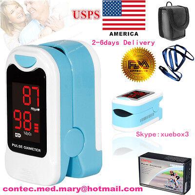 US seller Finger Pulse Oximeter Blood Oxygen Sensor O2 SpO2 Monitor Heart Rate 12