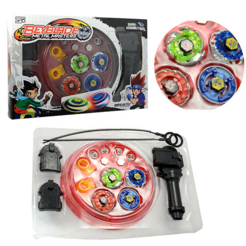 4D Beyblade Set Fusion Top Metal Rapidity Masters Launcher Grip Kids Toys Gift 2